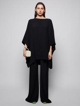 Estela Oversized Kaftan Top Black