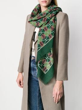 Green logo scarf
