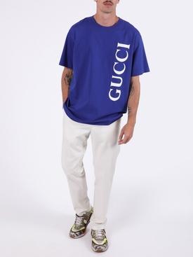 Boxy fit logo t-shirt MARINO BLUE