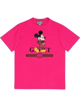 x Disney Mickey Print Short Sleeve T-shirt PINK
