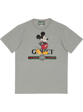 x Disney Mickey Print Grey Short Sleeve T-shirt