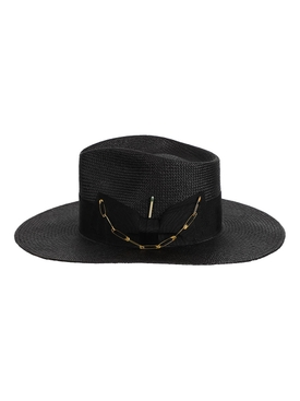 Midnight straw hat, black