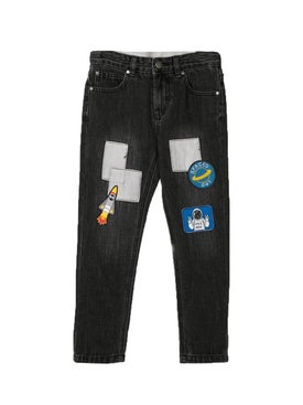 Stella Mccartney - Kids Patched Slim Jeans - Kids