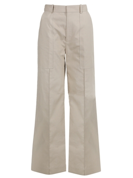 Taupe wide-leg pant