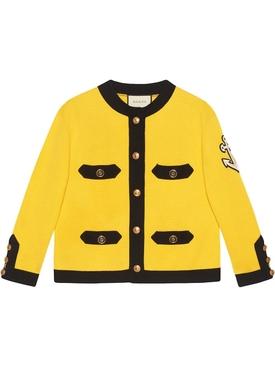Long Sleeve Crew Neck Jacket Yellow