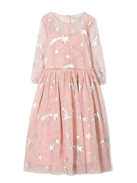 kids star print dress