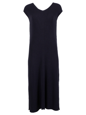 CAMASSIA RIBBED SILK-BLEND MIDI DRESS