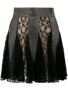 Christopher Kane - Crystal Lace Mini Skirt Black - Women