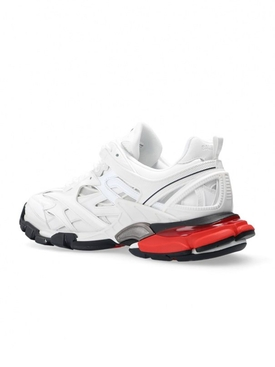 Track low-top sneakers WHITE/RED