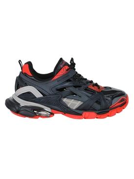 Multi-panel track 2 sneaker BLACK/RED/GREY