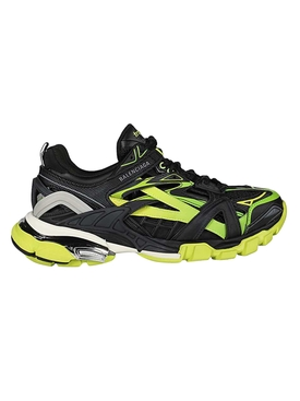 Track 2 open paneled sneakers BLACK/YELLOW