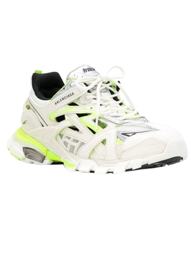 Track 2 open paneled sneakers WHITE/FLUO YELLOW
