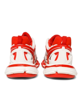 TRACK.2 SNEAKER, WHITE AND RED