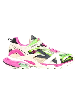 Balenciaga - Multi-panel Track 2 Sneaker White/green/pink - Men