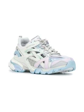 Track 2 Sneaker, White & Light Blue