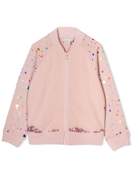 Stella Mccartney - Kids Metallic Dots Bomber Jacket - Kids