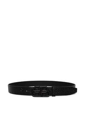 Black On Black Crock Embossed BB Belt