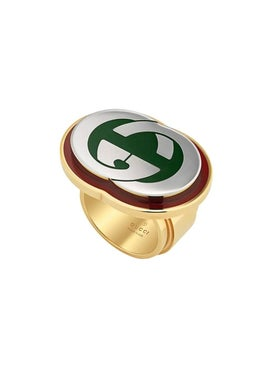 Gucci - Interlocking G Ring With Enamel - Women