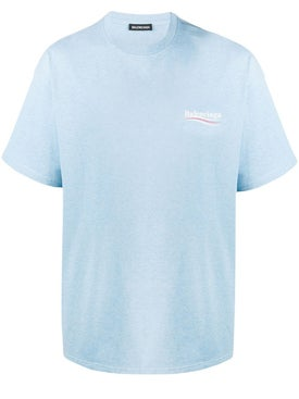Balenciaga - Blue Political Logo T-shirt - Men