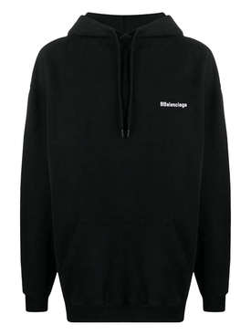 Medium Fit Logo Hoodie BLACK