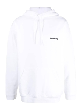 Medium Fit Logo Hoodie WHITE