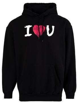 I Love U Hoodie, Black