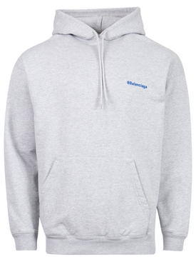 CLASSIC HOODIE HEATHER GREY AND ROYAL BLUE