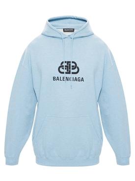 Light blue logo hoodie