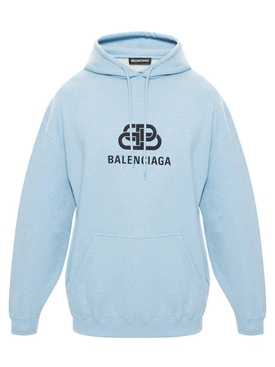 Balenciaga - Light Blue Logo Hoodie - Men