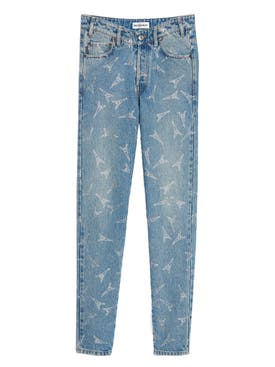 Balenciaga - Eifel Tower V-neck Jeans - Women