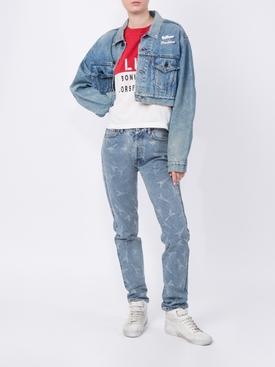 Eifel Tower V-Neck Jeans