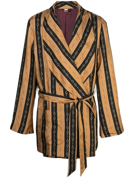 chain printed dressing-gown jacket