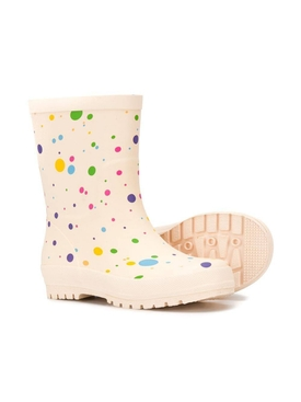 Kids dotted wellies
