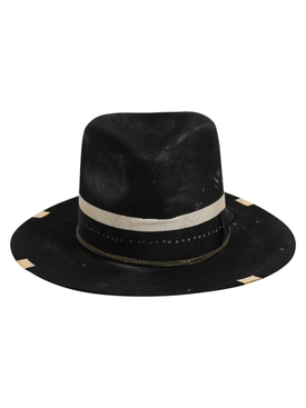 Black and Beige Fedora