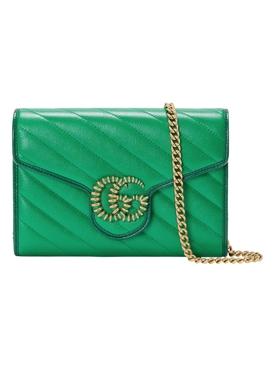 GG Marmont Mini Chain Bag Green