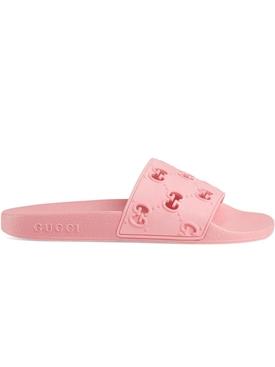 Rubber GG Slide Sandals