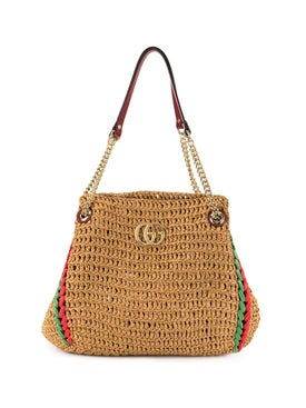 Gucci - Gg Marmont Raffia Bag - Women