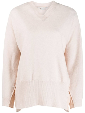 Ruched sides V-neck sweater