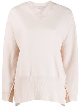 Stella Mccartney - Ruched Sides V-neck Sweater - Women
