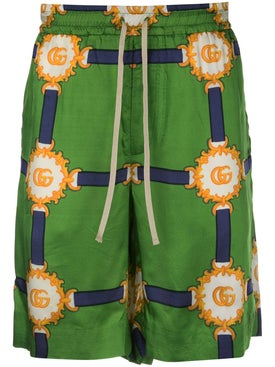 Gucci - Logo Drawstring Shorts Green - Men