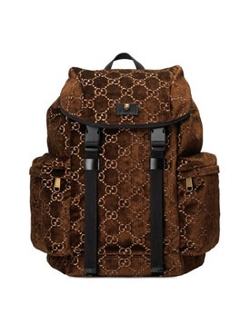Gucci - Gg Velvet Backpack Brown - Women