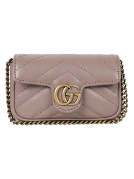 GG Marmont logo leather mini bag NUDE