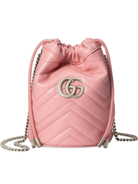 Pink GG Marmont bucket bag