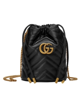 Black GG Marmont bucket bag