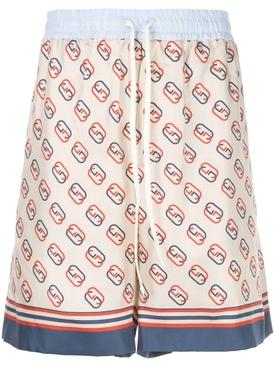 interlocking GG motif ivory shorts