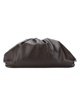 Lambskin pouch clutch BROWN/GOLD