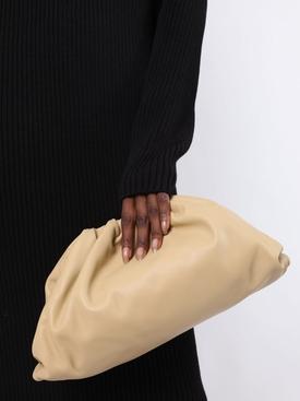Lambskin pouch clutch Tapioca