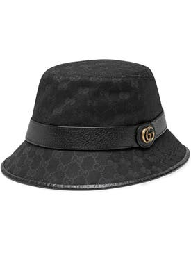 Gucci - Black Canvas Bucket Hat - Women