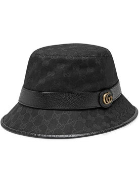 Gucci - Black Canvas Bucket Hat - Hats
