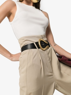 Black Leather Double-Strap Belt
